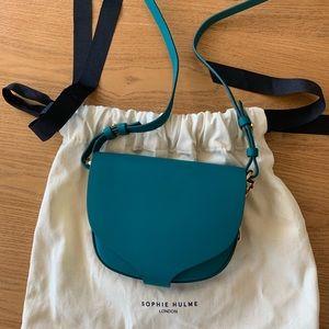 BRAND NEW!! Sophie Hulme Teal Mini Barnsbury Bag